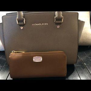 Michael Kors Selma Saffiano satchel and wallet!